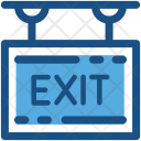 Exit Sign Signboard Icon
