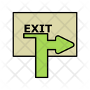 Exit Sign Board Icon