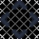 Chevron Expand Diagonal Icon