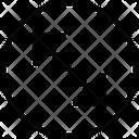Circle Arrow Out Top Left Cross Expand Arrow Cross Maximize Arrow Icon