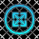 Expanding Zigzag Top Right Arrow Arrows Icon