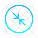Expanding Left Zigzag Top Right Arrow Arrows Icon
