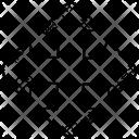 Expanding Symbol Arrows Icon