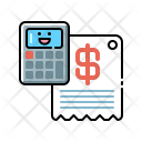 Expenses Bill Caclulation Icon
