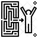 Experience Maze Exit Icon