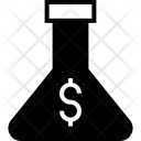 Experiment Dollar Flask Icon