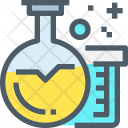 Flasks Research Experiment Icon