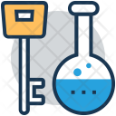 Flask Key Lab Icon
