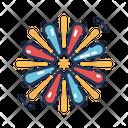 Exploding Fireworks Sparkle Celebration Icon