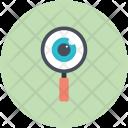 Exploration Eye Magnifying Icon