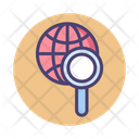 Explore Magnifier Search Globally Icon