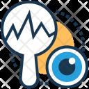 Focus Magnifier Graph Icon
