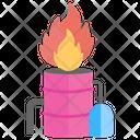 Explosive Barrel Flammable Chemical Hazardous Icon