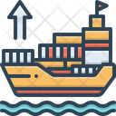 Exporter Ship Shipping Icon