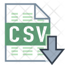 Export Csv File Icon
