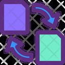 Export File Exchange File Exchange Document Icon