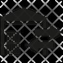 Warehouse Export Import Icon
