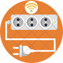 Smart Home Extension Cable Socket Icon