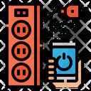 Smart Extension Cord Icon