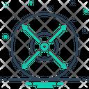 Extent Limit Range Icon