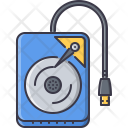 External hard-disk Icon