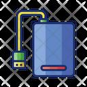 External Hard Drive Hdd Storage Icon