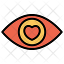 Dating Eye Love Icon