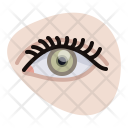 Eye Spiral Eyelashes Icon