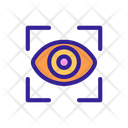 Eye Biometry Frame Icon