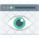 Eye Visualization Web Icon