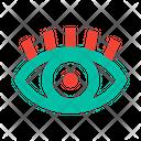 Eye Pupil Eyelash Icon