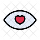 Eye Love Heart Icon