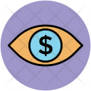 Eye View Dollar Icon