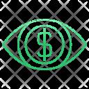 Eye Money Finance Icon