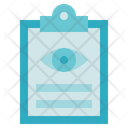 Medical Service Eye Exam Report Icon