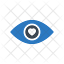 Heart Eye Love Icon