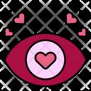 Dating Eye Love Heart Icon