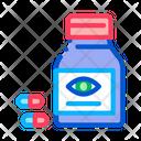 Bottle Pills Eyes Icon