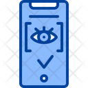 Eye Recognition Biometric Access Eye Authentication Icon