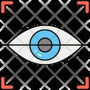 Eye Scanner Security Biometric Icon