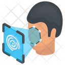 Eye Scanner Biometric Verification Eye Detector Icon