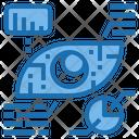 Eye Sensor Artificial Intelligence Icon