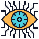 Eye Technology Chip Icon