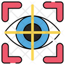 Eye Tracking Iris Recognition Eye Recognition Icon