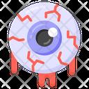 Bloody Eye Organ Scary Eye Icon