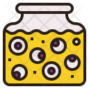 Eyeball Jar Spooky Icon