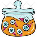 Eyeball Jar Creepy Jar Scary Jar Icon