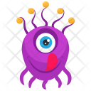 Eyeball Cartoon Character Icon