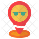 Pin Location Eyeglasses Icon