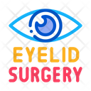 Eyelid Surgery Healthy Icon